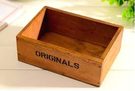 wooden storage box small