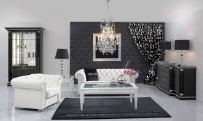 dekorasi warna hitam putih desain interior mewah nan elegan