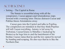 the tragedy of julius caesar act three characters  caesar  4 act