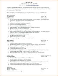 Resume Accounting Objective Best Of Resumes For Accountants Tigertweetme