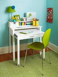 desks for small spaces small writing desk in white color has three level top