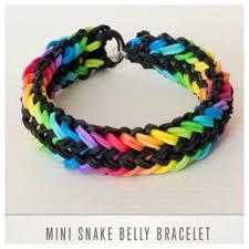 Mini Loom Designs Mini Snake Belly Rainbow Loom Bracelets Rainbow Loom