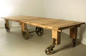chic industrial dining table also custom industrial cart dining table by warnock woodwork