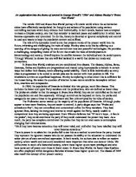 an exploration of orwell s and huxley s brave new world a  page 1 zoom in