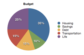 Budgeting Pie Chart How To Make A Budget You Can Live With Money After Graduation