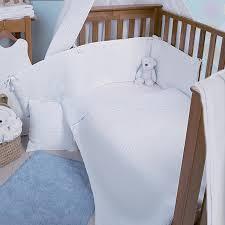 clair de lune cot cot bed quilt per set waffle white