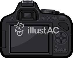 一眼レフカメラ 背面 液晶イラスト No 827527無料イラストなら