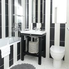 Black White Bathroom Black White Tile Bathroom Paint Color