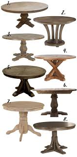 farmhouse decor the rustic round dining table 8 options under 650 hey