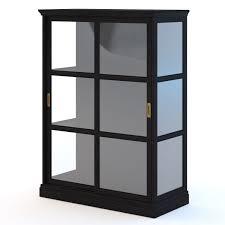 ikea malsjo glassdoor cabinet 3d model max obj fbx mtl 1