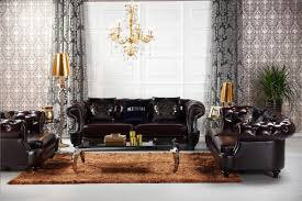 Furniture:Italiano Furniture Sofa Showed By Glossy Dark Chocolate Tone With  Tufted Style On The