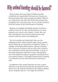 why animal huntings should be banned muhammad amir asyraf 2