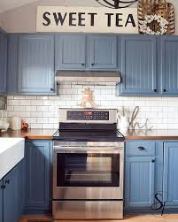 Blue Kitchen Cabinets Beautiful Blue Kitchen Cabinet Ideas ...