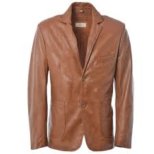 leather blazer jacket cognac app william