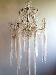 shabby chic chandelier white