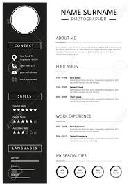 Clean Curriculum Vitae Resume Template With Minimal Design
