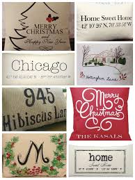 personalized holiday pillows housewarming realtor gifts