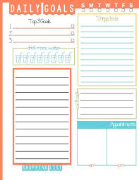 Template: Life Planning Template Daily Goals Plan Your Printable ...