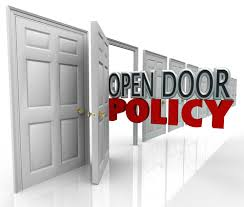 open door policy. Delighful Open On Open Door Policy E