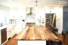wood kitchen countertop oil finish f wooden worktop cost marvellous farmhouse with a reclaimed chestnut designed