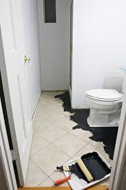 diy painted stencil bathroom floor the home depot blog