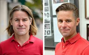 Hair Style Before And After former candidate stewart mills cuts trademark locks after grilling 2315 by wearticles.com