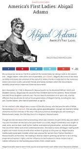 Americas First Ladies 2 Abigail Adams Women Of