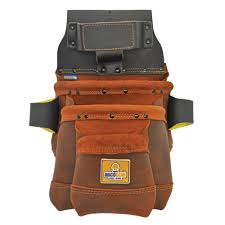 3 pocket elite series leather tool pouch in brown