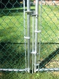 chain link fence gate latch. Wonderful Latch Double Gate Chain Link Fence How To Secure The Bottom Of A  Alluring  With Chain Link Fence Gate Latch