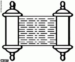 Kleurplaat Sefer Torah Een Rol Van De Thora Kleurplaten