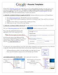 Resume Example Resume Templates Google Docs Resume Examples