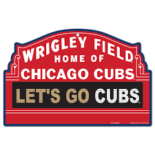 Chicago Cubs Wrigley Field Marquee Plastic Sign By Wincraft