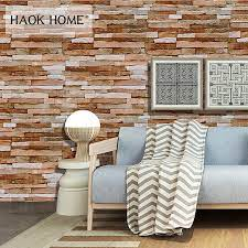 HaokHome Rustic Peel & Stick Stacked 3D ...