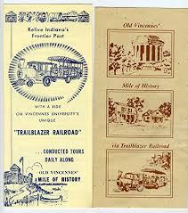 Old Brochures Amazon Com Old Vincennes Indiana Mile Of History Trailblazer