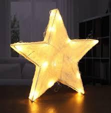 Led Sisal Stern Weihnachtsstern Beleuchtet Weihnachtsdeko Batteriebetrieben Farbechampagner