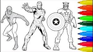 Copics are used as a base for the colors. Spiderman Wolverine Iron Man Coloring Book Colouring Pages For Kids With Colored Markers Youtube