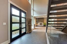 modern front double door. Custom Modern Wood Double Door, Insulated Privacy Glass, Interior View #17 Modern Front Double Door