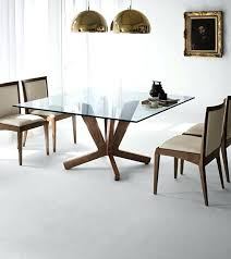 square glass table and chairs medium size of rectangular glass dining table with wood base round