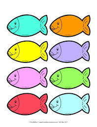 colored fish printables.  Fish Colored Fish Templete With Fish Printables