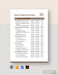 Design Schedule Template Interior Design Project Schedule Template Pdf Word