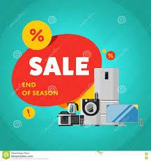 Appliances Discount Household Appliances Discount Sale Banner Stock Vector Image