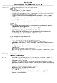 It Infrastructure Engineer Resume Sample Infrastructure Support Engineer Resume Samples Velvet Jobs 17