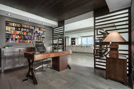 gray home office. This Office In Houston With Gray Wall Surfaces, Tool Tone Wood Floorings, A Free Standing Desk And Floors Appears Like Owned By Specialist As Home