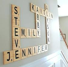 letters for wall art gallery wall decor wooden sign family sign family number sign scrabble letters personalized decor custom order scrabble letters wall