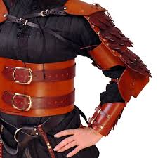 leather scale arm armor