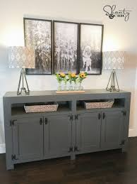 diy modern farmhouse media console table let us know if you have any questions at all happy building