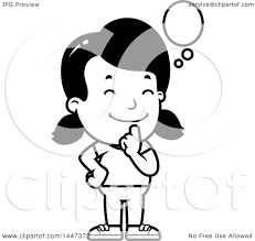 Black Girl Thinking Clipart Free Clip Art Images 23460