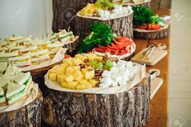 The 80 / 20 rule. Outside Catering Buffet Table With A Delicious Food For Guests Of The Event In Rustic Style Service At Business Meeting Party Weddings Selective Focus Space For Text Stock Photo Picture And Royalty