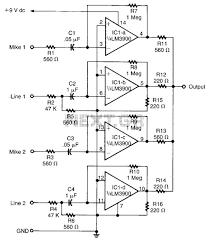 audio \u003e mixers \u003e audio mixer circuit l14819 next gr R13 135 Switch Wiring Diagram audio mixer circuit schematic Old Massey Ferguson Wiring Diagrams