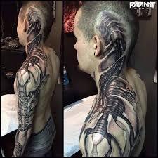 Biomechanictattoos Biomechanisch Tattoo 3d Realistisch Die